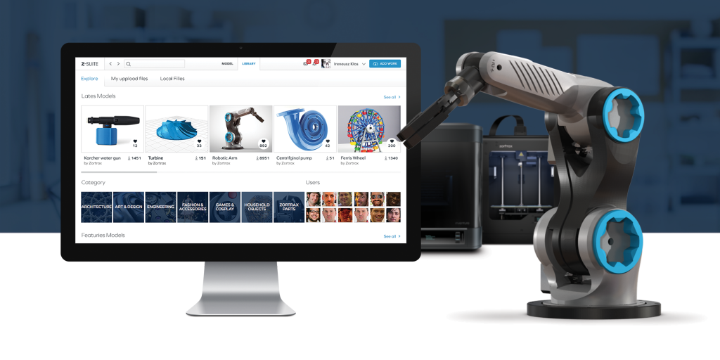 Zortrax Launches Online 3D Model Library with Free Robotic Arm (3dprintingindustry.com)
