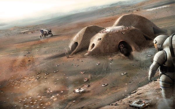 Foster + Partners unveils designs for Mars settlement that could be 3D printed by robots (3ders.org)