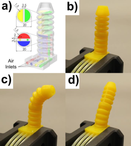 Researchers Create a Fully Articulated 3D Printed Soft Robot Octopus Tentacle (3dprint.com)