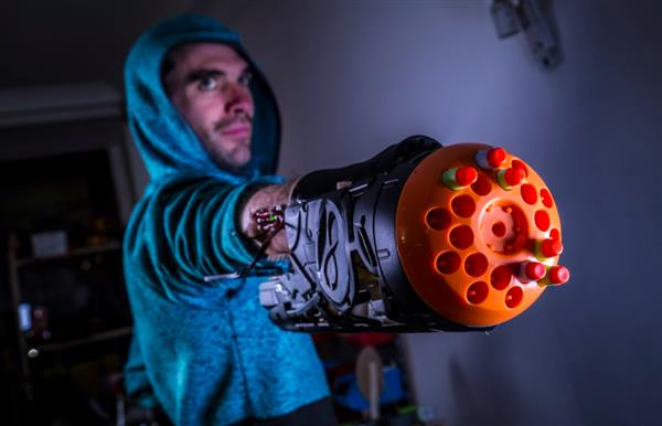 Nerf-shooting 3D printed arm might be strangest prosthesis ever (3ders.org)